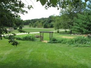 View to garden arbor 1