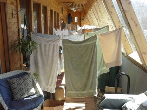 Inside clothes line